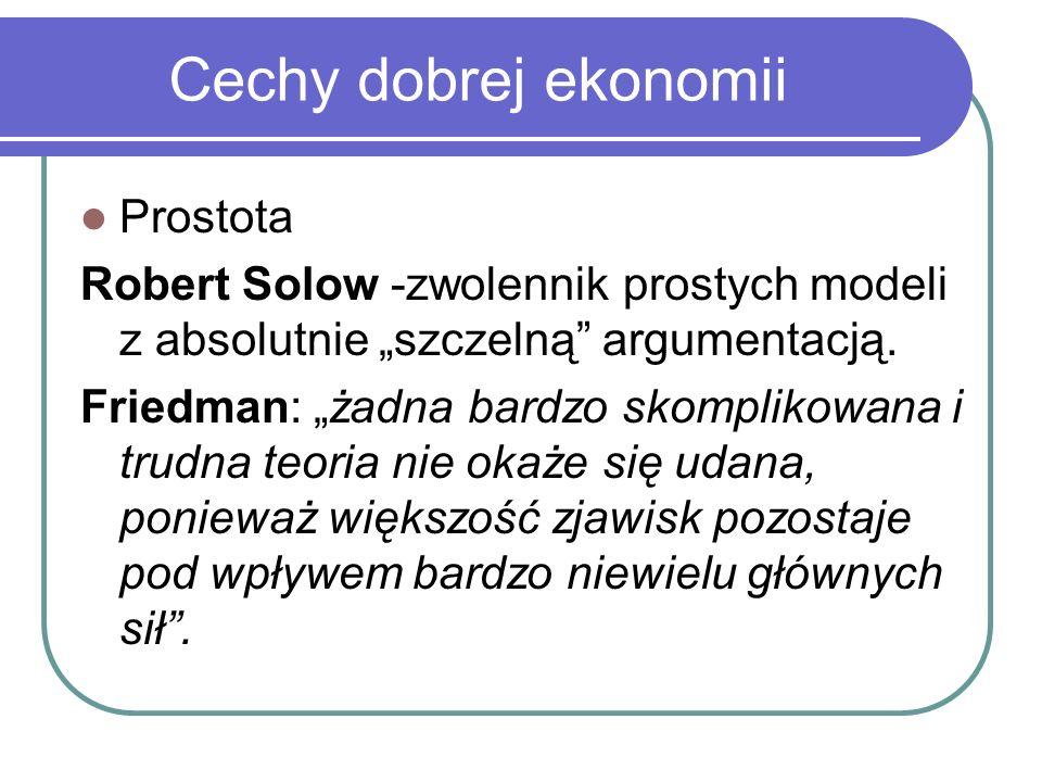 Cechy dobrej ekonomii Prostota