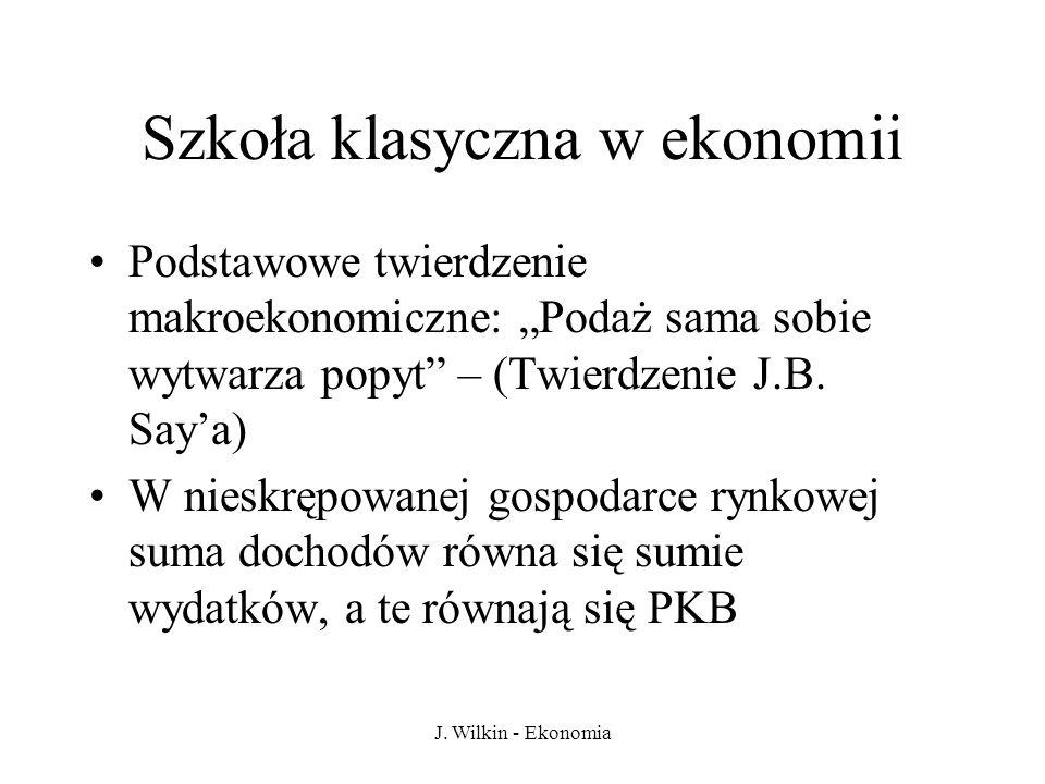 Szkoła klasyczna w ekonomii