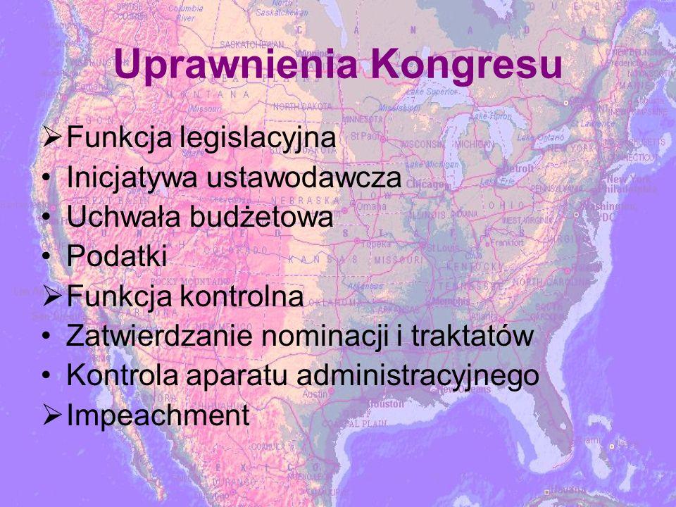 Uprawnienia Kongresu Funkcja legislacyjna Inicjatywa ustawodawcza