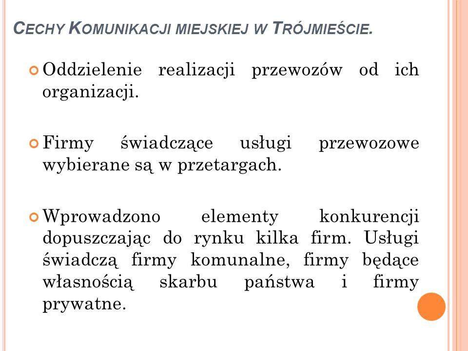 Cechy Komunikacji miejskiej w Trójmieście.
