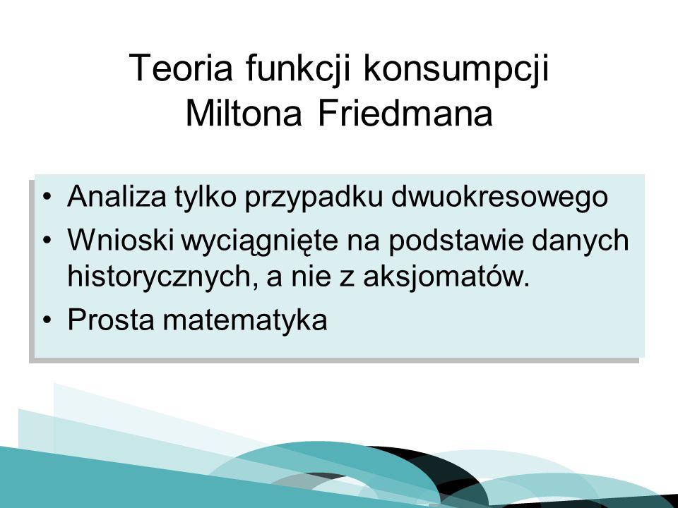 Teoria funkcji konsumpcji Miltona Friedmana