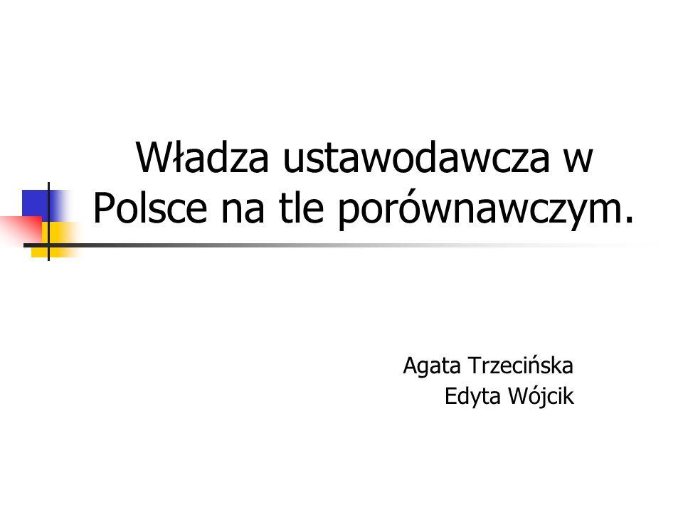 Władza ustawodawcza w Polsce na tle porównawczym.