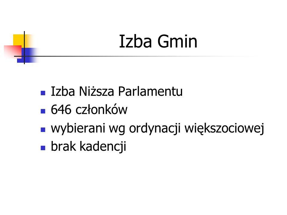 Izba Gmin Izba Niższa Parlamentu 646 członków