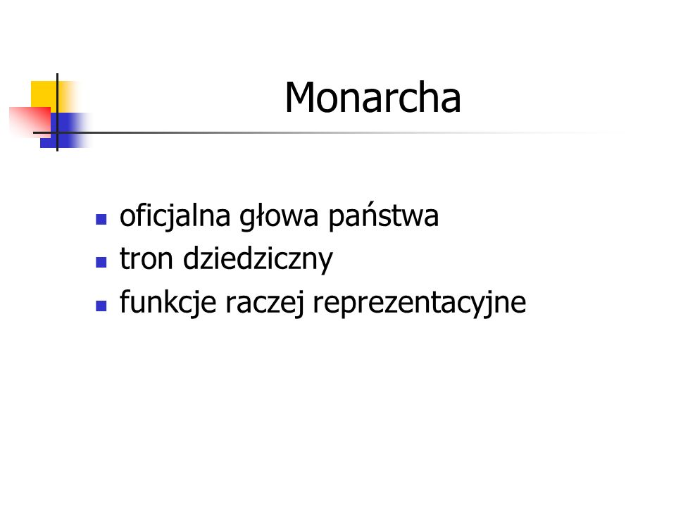 Monarcha oficjalna głowa państwa tron dziedziczny