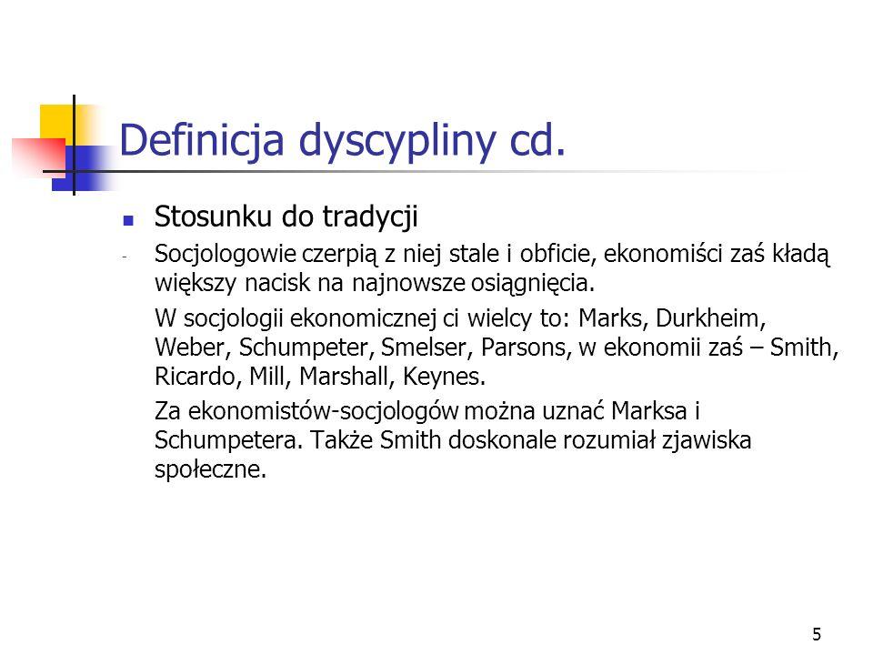 Definicja dyscypliny cd.