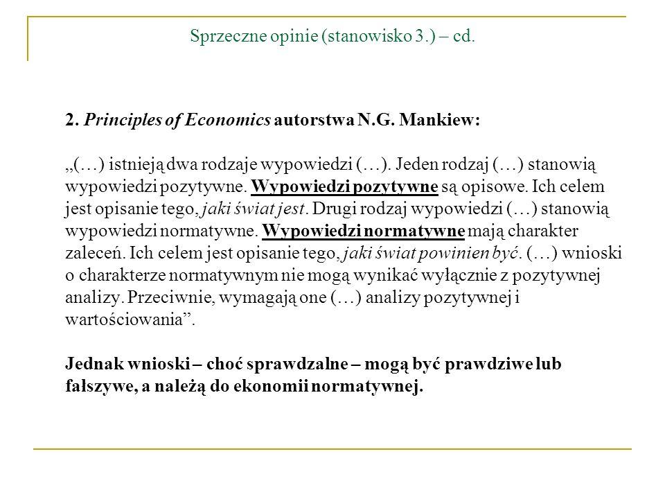 Sprzeczne opinie (stanowisko 3.) – cd.