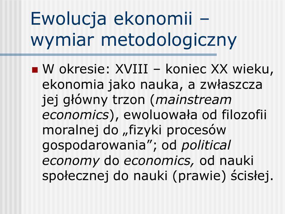 Ewolucja ekonomii – wymiar metodologiczny