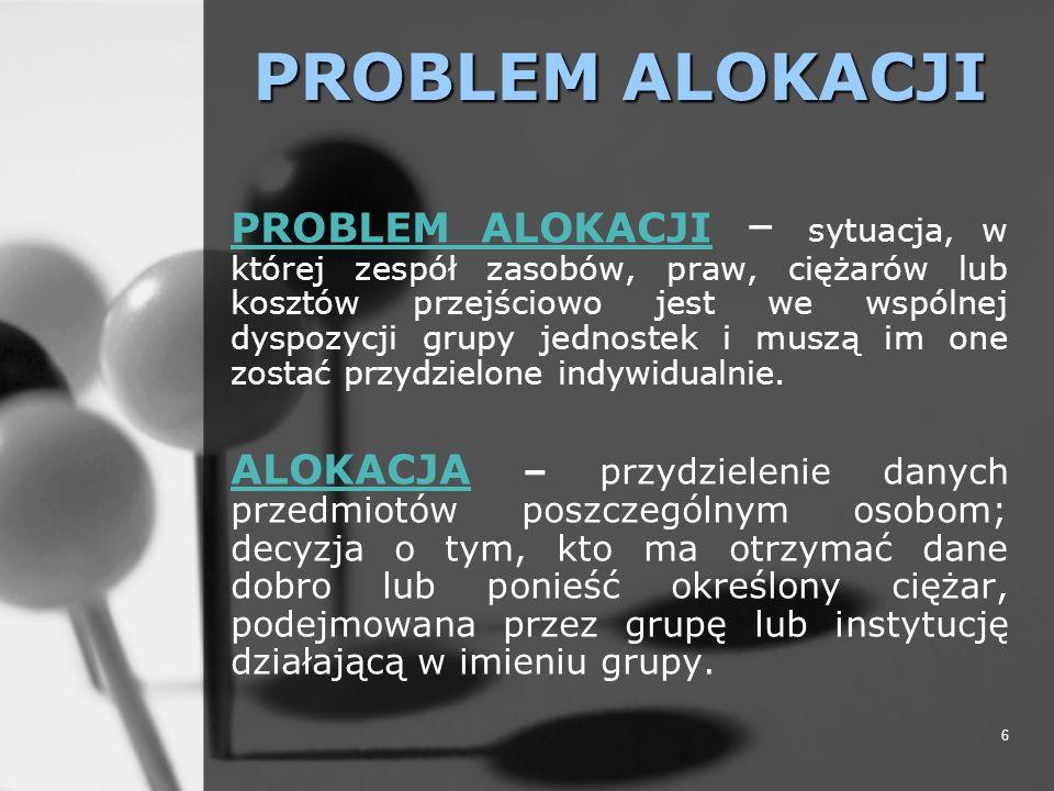PROBLEM ALOKACJI