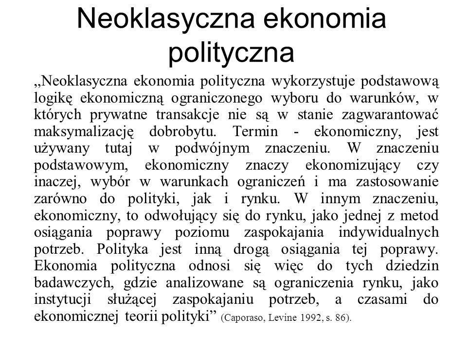 Neoklasyczna ekonomia polityczna