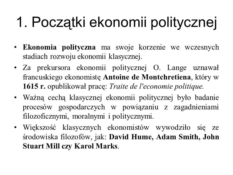 1. Początki ekonomii politycznej