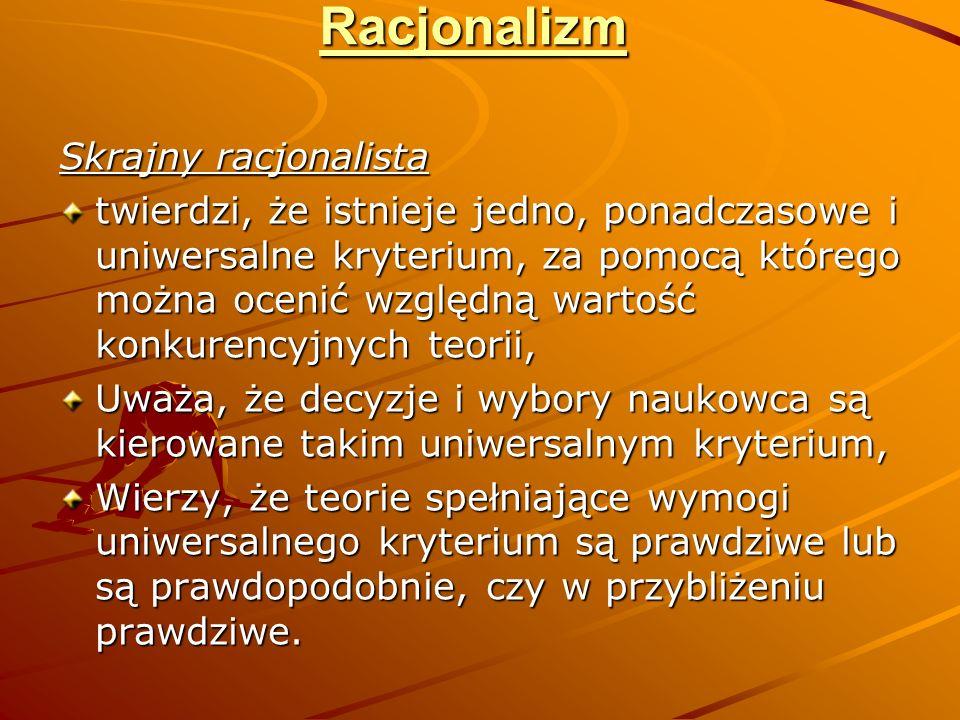 Racjonalizm Skrajny racjonalista