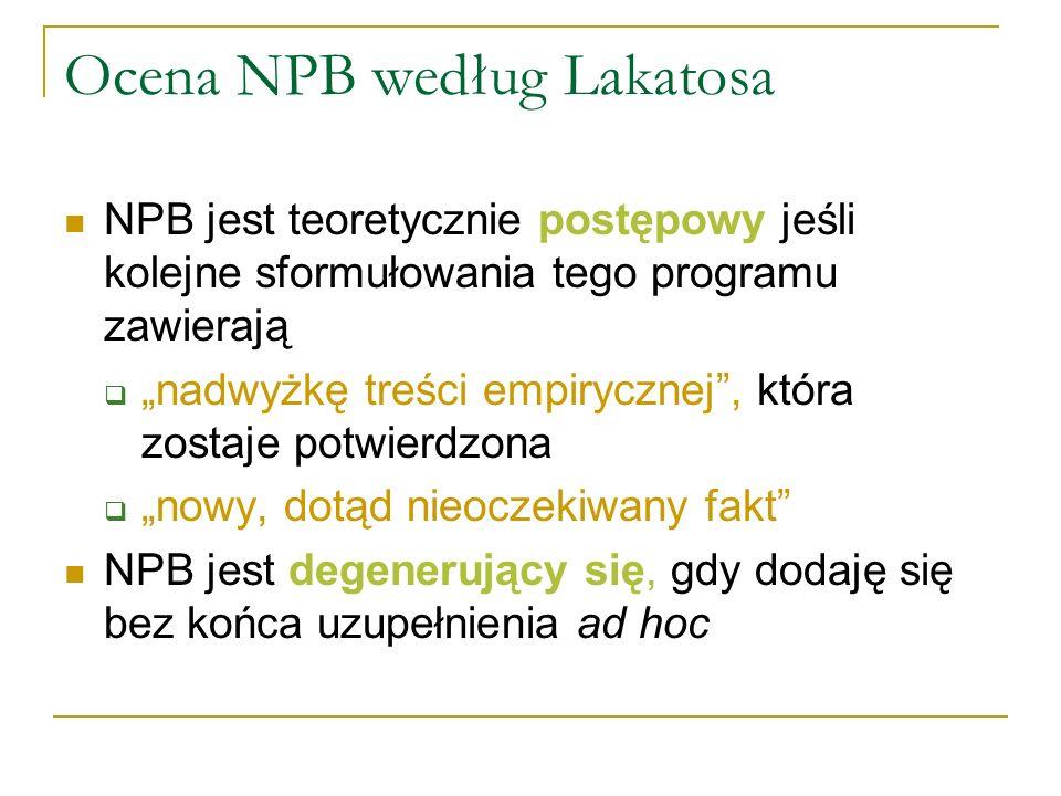 Ocena NPB według Lakatosa