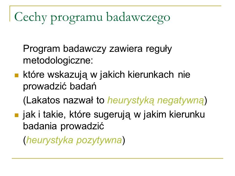 Cechy programu badawczego
