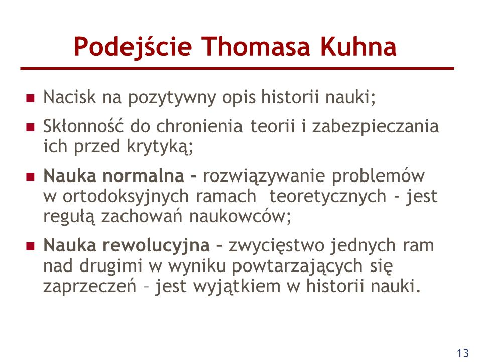 Podejście Thomasa Kuhna