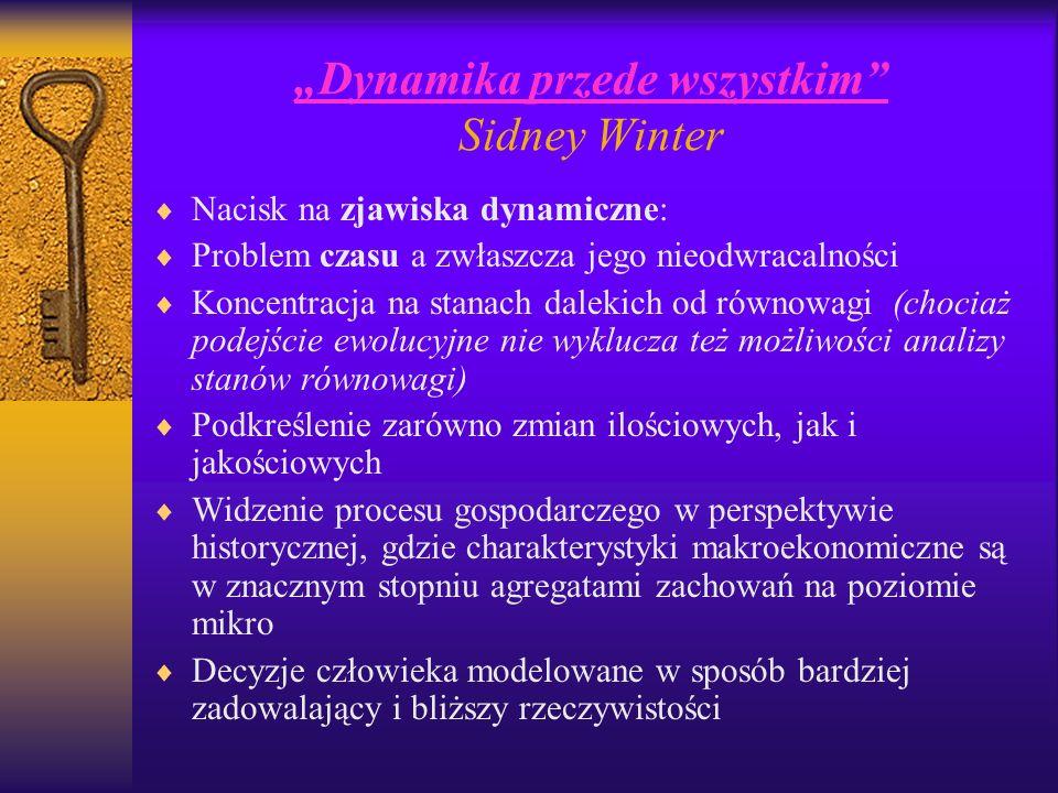 """""""Dynamika przede wszystkim Sidney Winter"""