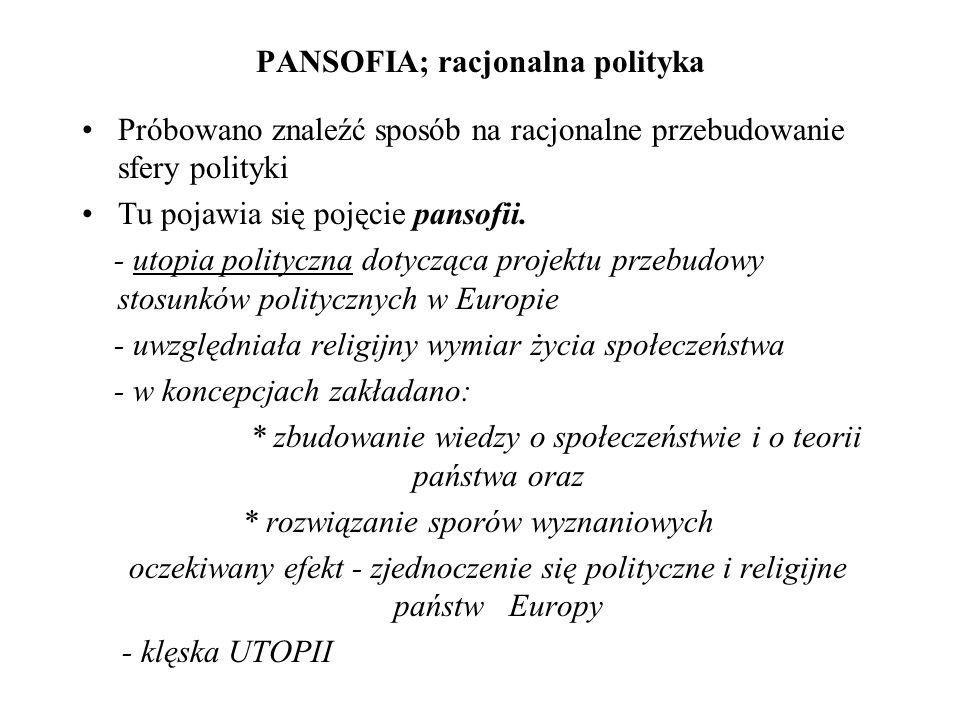 PANSOFIA; racjonalna polityka