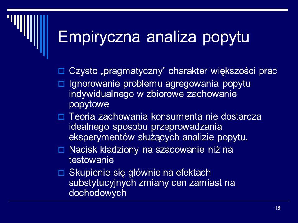 Empiryczna analiza popytu
