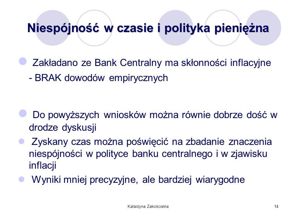 Niespójność w czasie i polityka pieniężna