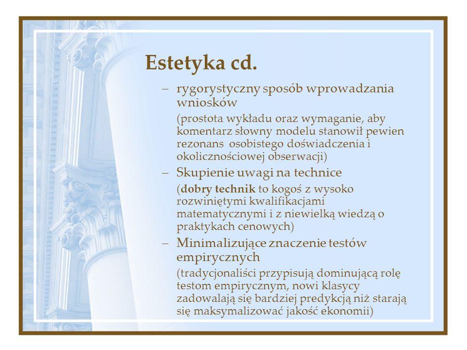 Estetyka cd. rygorystyczny sposób wprowadzania wniosków