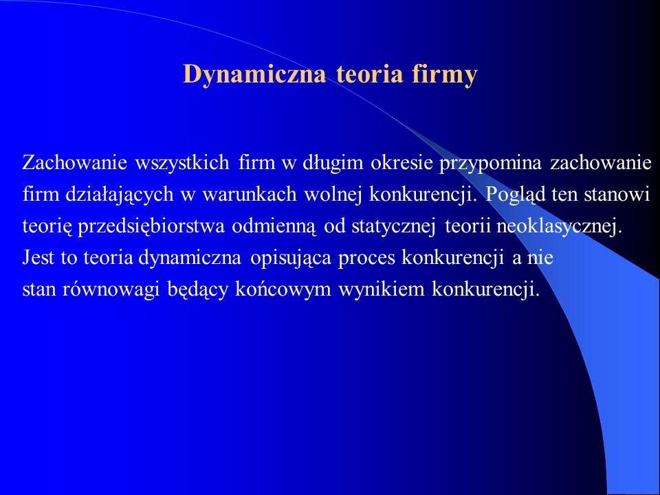 Dynamiczna teoria firmy