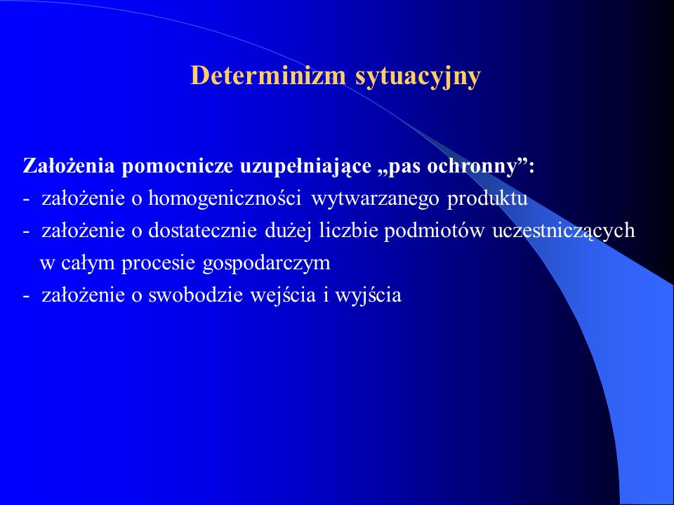 Determinizm sytuacyjny