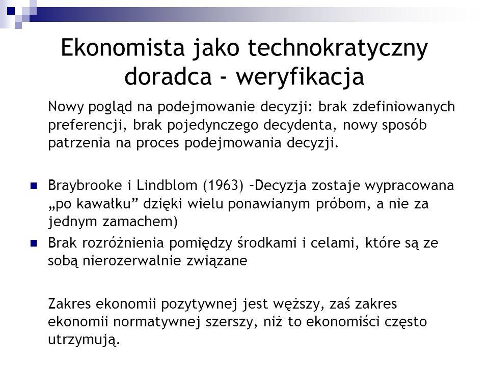 Ekonomista jako technokratyczny doradca - weryfikacja