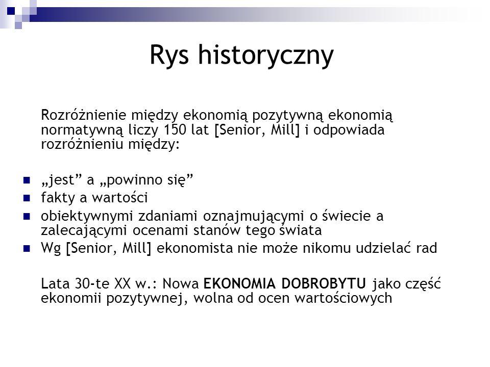 """Rys historyczny """"jest a """"powinno się fakty a wartości"""