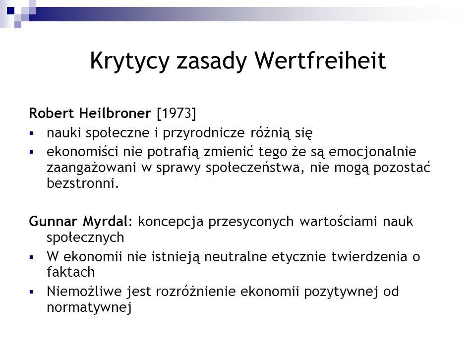Krytycy zasady Wertfreiheit