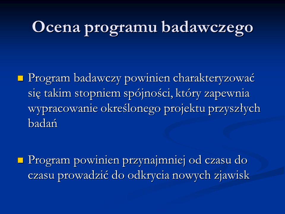 Ocena programu badawczego