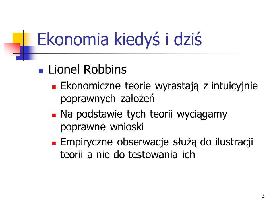 Ekonomia kiedyś i dziś Lionel Robbins