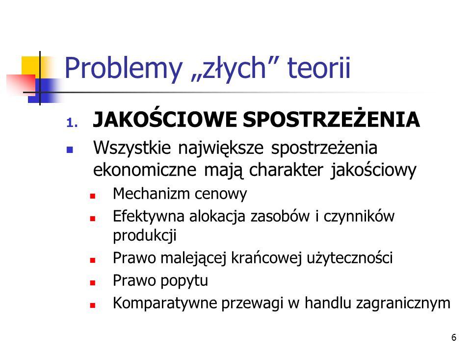 """Problemy """"złych teorii"""