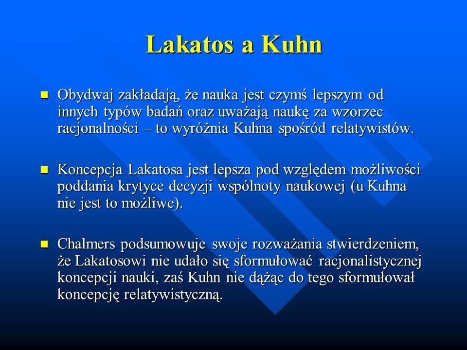 Lakatos a Kuhn