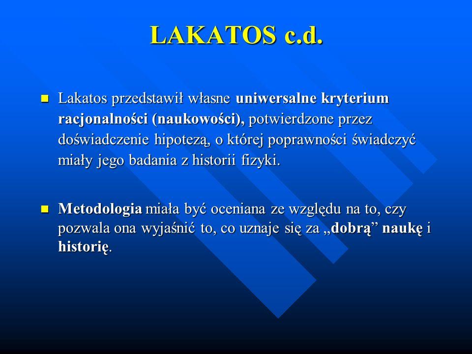 LAKATOS c.d.