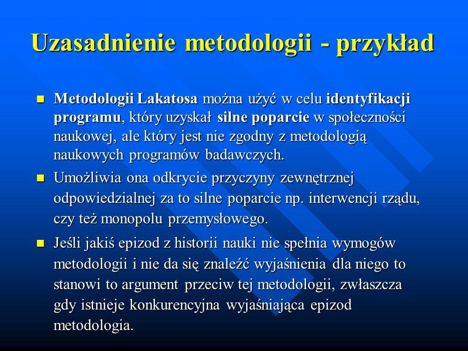 Uzasadnienie metodologii - przykład