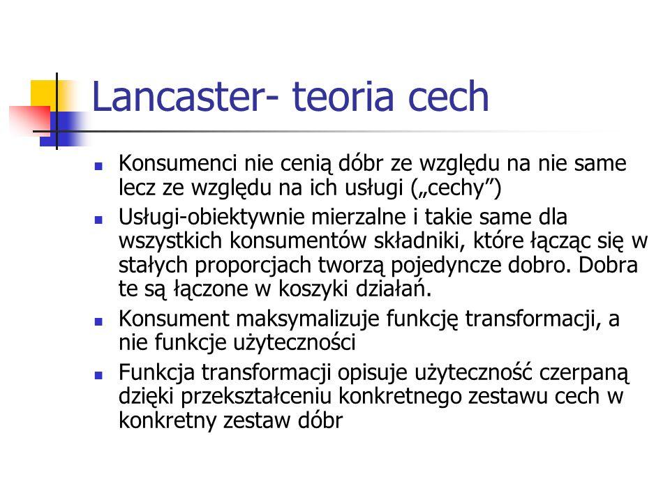 Lancaster- teoria cech