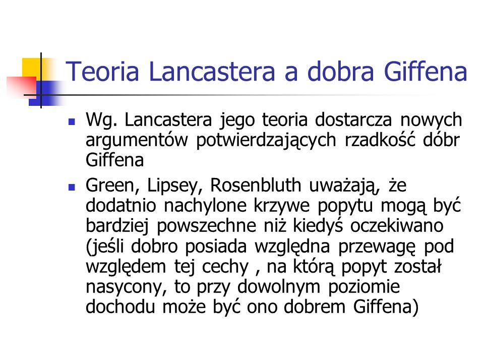 Teoria Lancastera a dobra Giffena