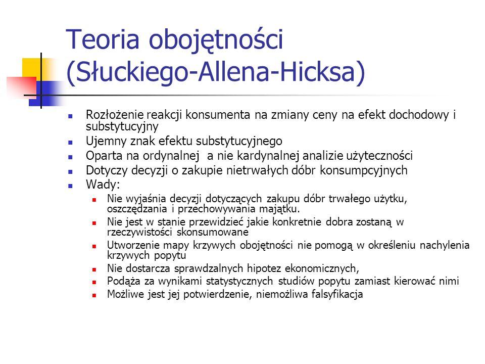 Teoria obojętności (Słuckiego-Allena-Hicksa)