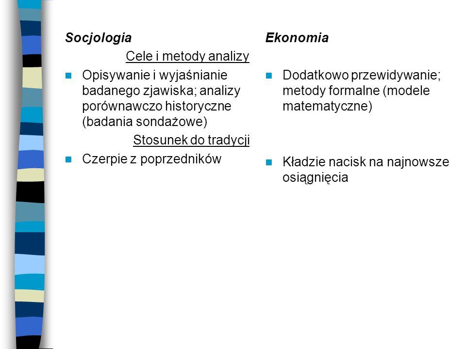 Socjologia Cele i metody analizy. Opisywanie i wyjaśnianie badanego zjawiska; analizy porównawczo historyczne (badania sondażowe)