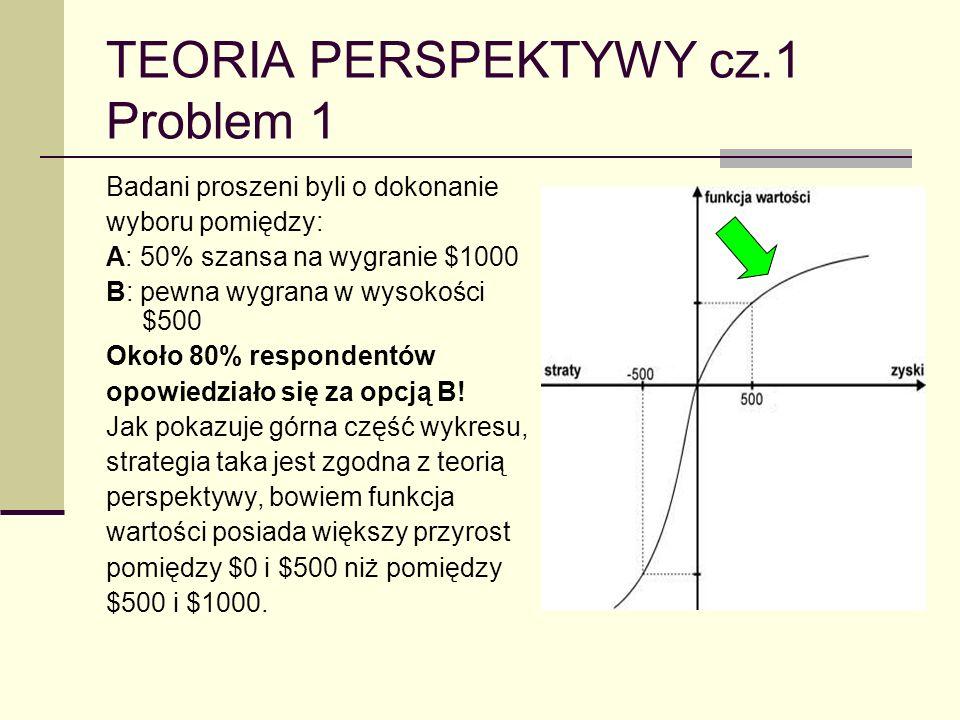 TEORIA PERSPEKTYWY cz.1 Problem 1