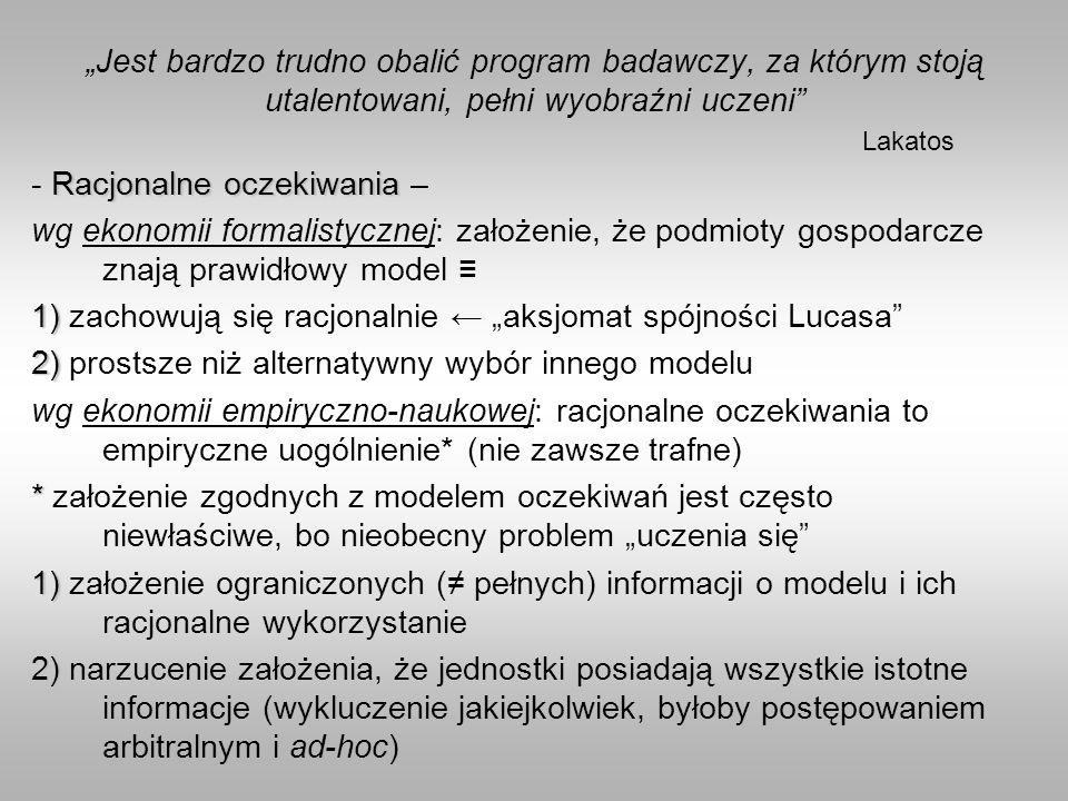 """""""Jest bardzo trudno obalić program badawczy, za którym stoją utalentowani, pełni wyobraźni uczeni Lakatos"""