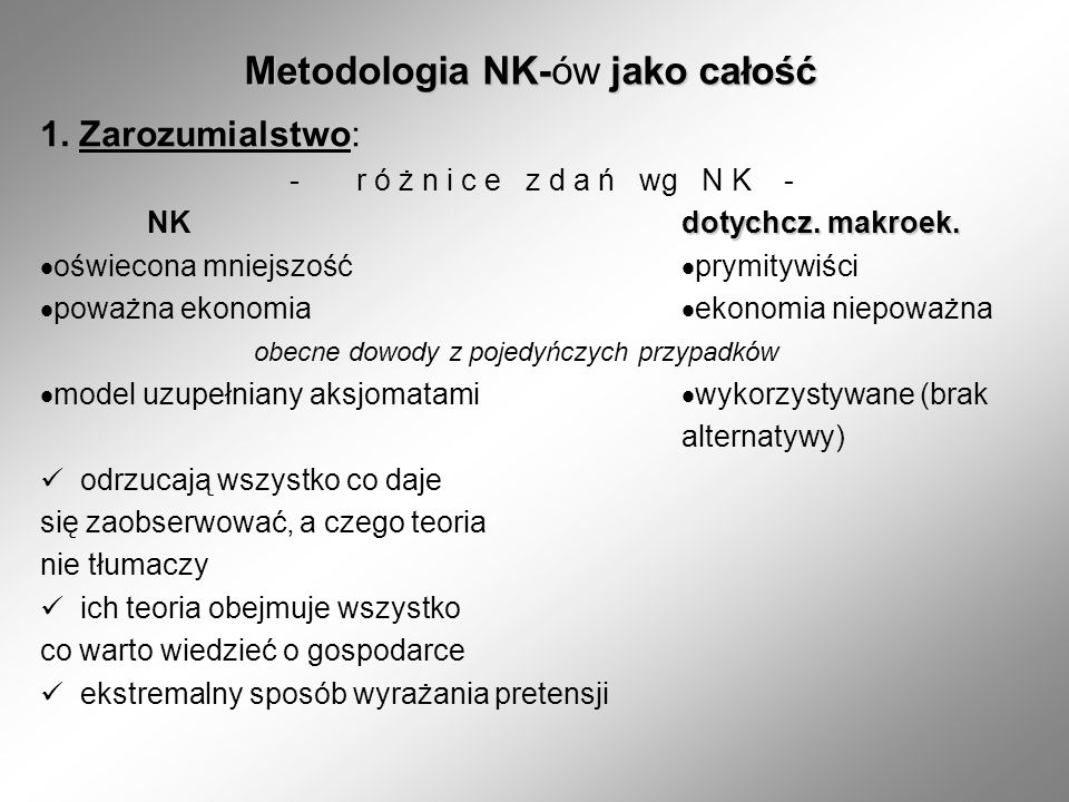 Metodologia NK-ów jako całość