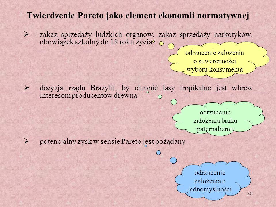 Twierdzenie Pareto jako element ekonomii normatywnej