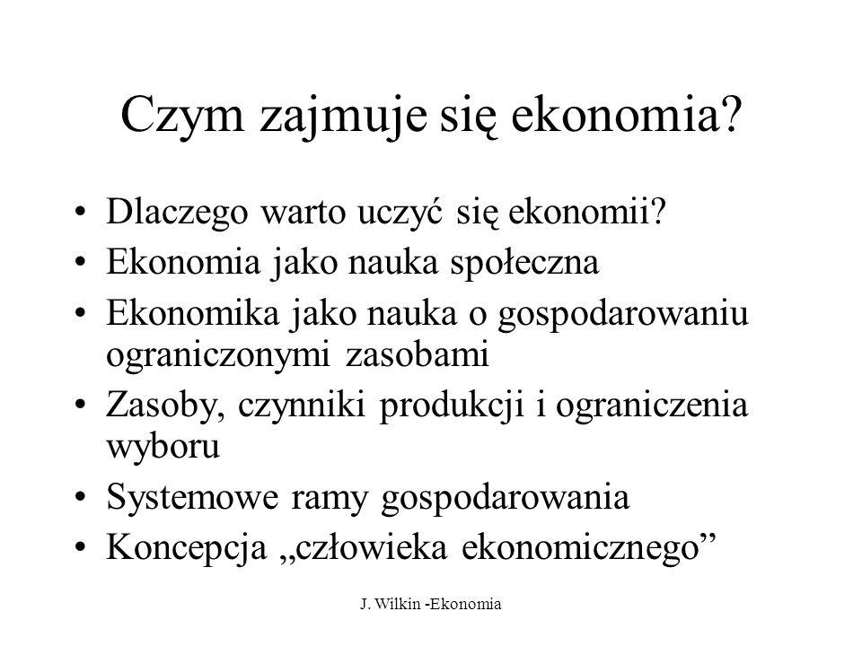 Czym zajmuje się ekonomia