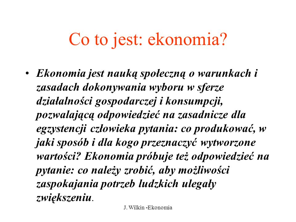 Co to jest: ekonomia