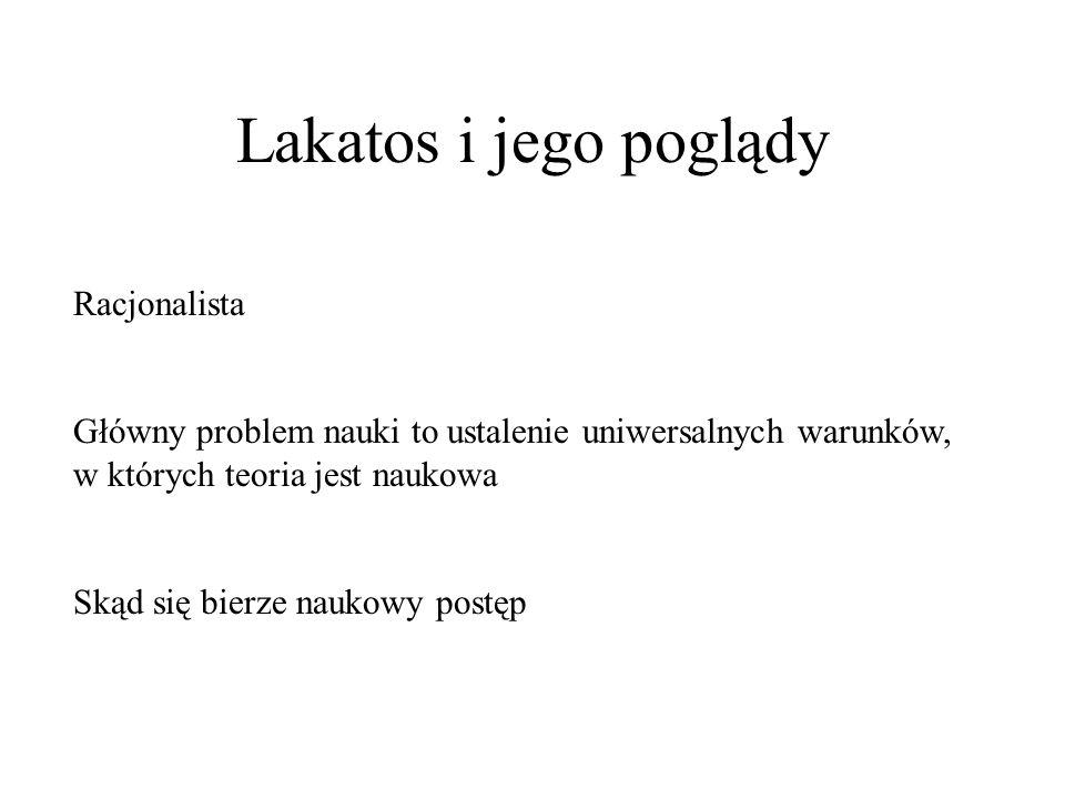 Lakatos i jego poglądy Racjonalista