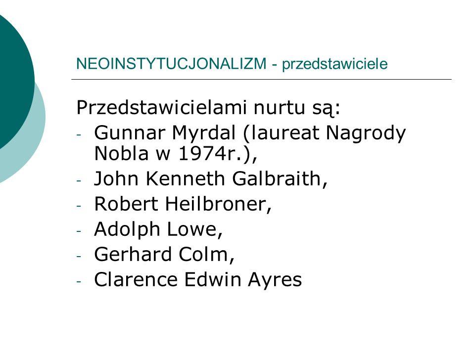 NEOINSTYTUCJONALIZM - przedstawiciele