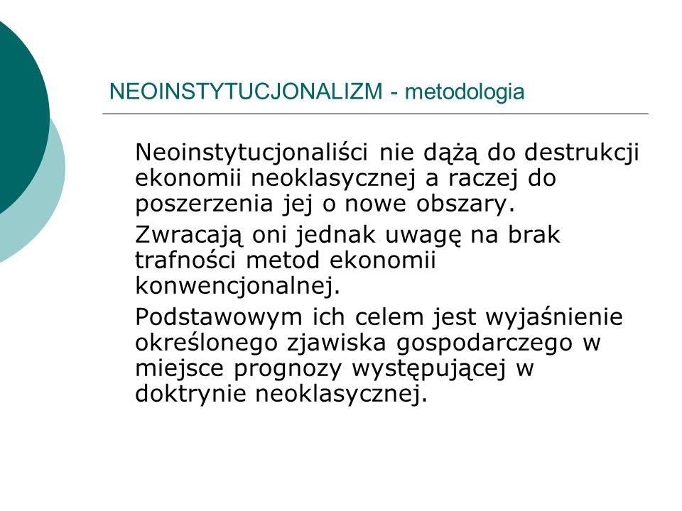 NEOINSTYTUCJONALIZM - metodologia
