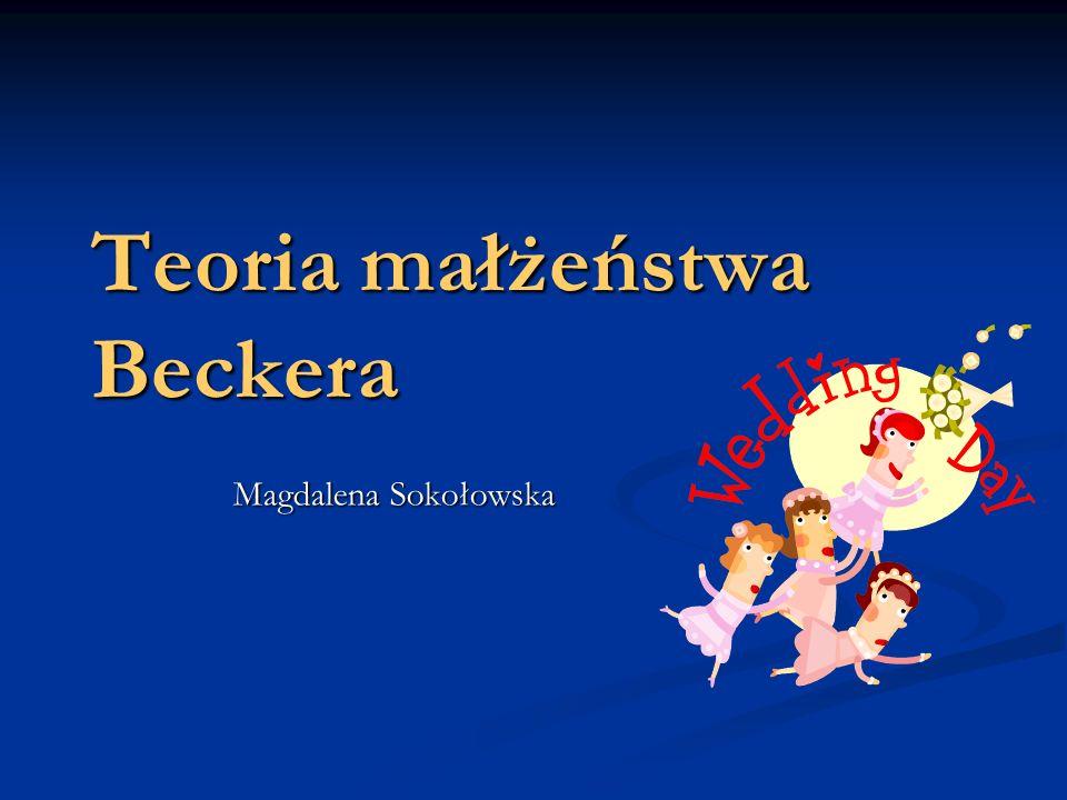 Teoria małżeństwa Beckera