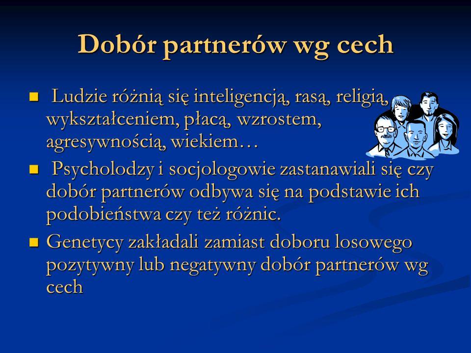 Dobór partnerów wg cech