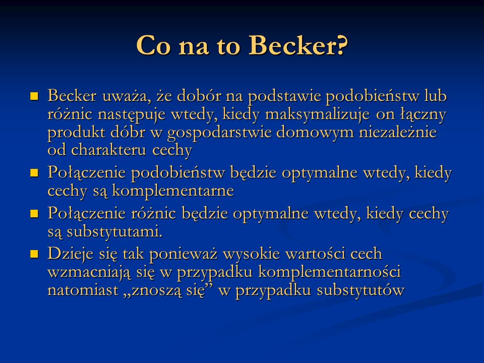 Co na to Becker